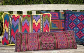 Log Cabin jewel tones with companion pillows