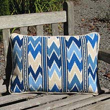 Balouch Stripe 04 in strong blues