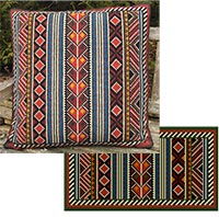 Berber Stripe 04 colors - Large Square and Back Pillow