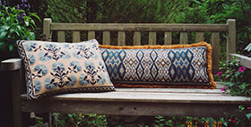 Carnation Back Pillow 02 with Long Morocco 02
