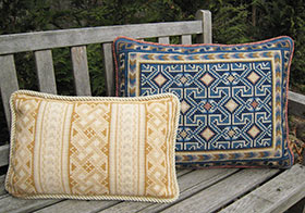 Balouch #BAL-01 and Celtic Knot #CEL-05 pillows