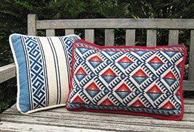Greek Border 01 with Anatolia Back Pillow 08 colors