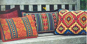 Small Karakum 04 with companion pillows
