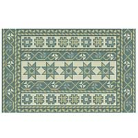 Long Kilim Stripe 07 sea breeze