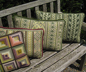 Oahu 02 pillow with companion patterns