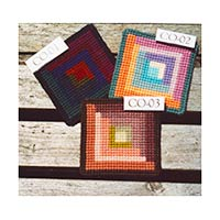 Log Cabin Coasters - in 3 colors
