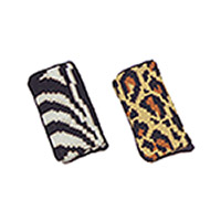 Eyeglass cases - Zebra pattern at left, Leopard at right