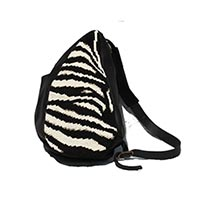 Large Shoulder Bag - Zebra pattern
