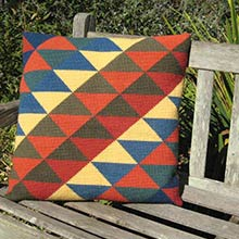 Triangles in traditional Kilim colors