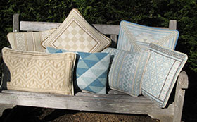 Triangle Back Pillow 03 with 6 companion pillows