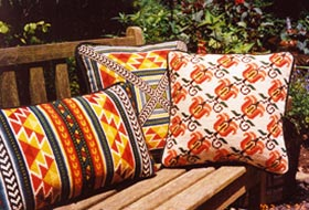 Tulip Stripe 04 with Small Tabriz & Tabriz Back Pillow 01 pillows