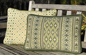 12thC Geometric 02 with Morocco Stripe Back Pillow 07