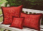 our signature red color group - patterns shown are from the Basilica group