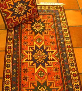 rugs, runners & throws - patterns shown from the Kilim group